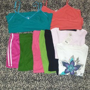 Ladies Large Shorts, Tees & Tanks Bundle #204